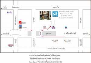 Map of Twin Fish showroom