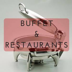 อุปกรณ์ในห้องอาหารและบุฟเฟ่ต์